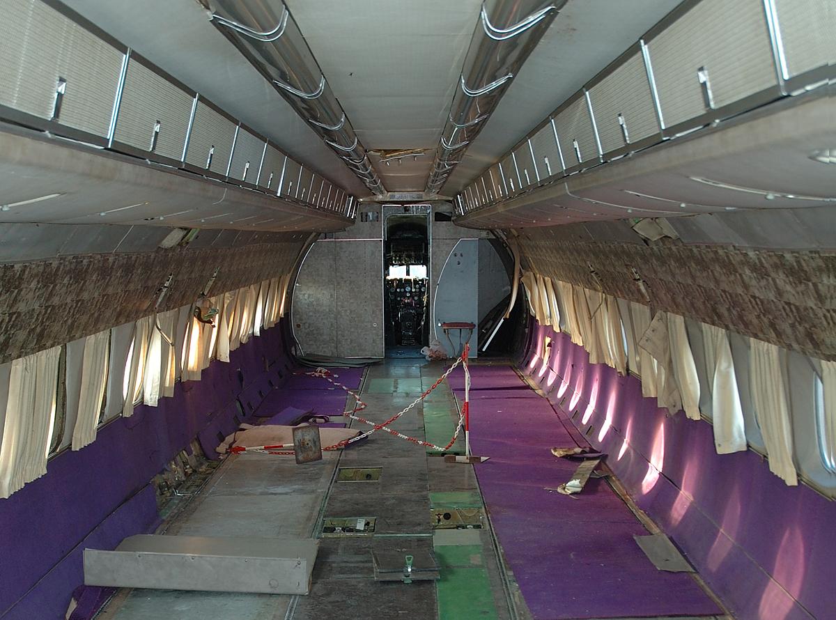 Das Innere der ersten gebauten Caravelle SE-210