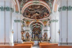 Das Innere der Stiftskirche St. Gallen