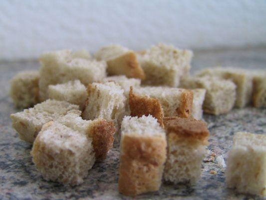 Das ist gewürfelter Toast :-)