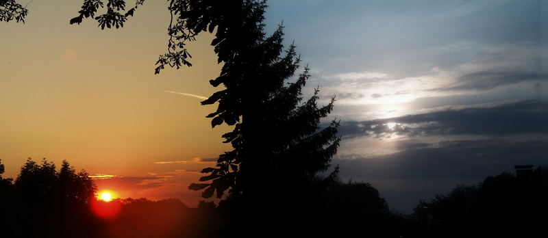 Das ist nicht die Sonne, die untergeht, sondern die Erde, die sich dreht