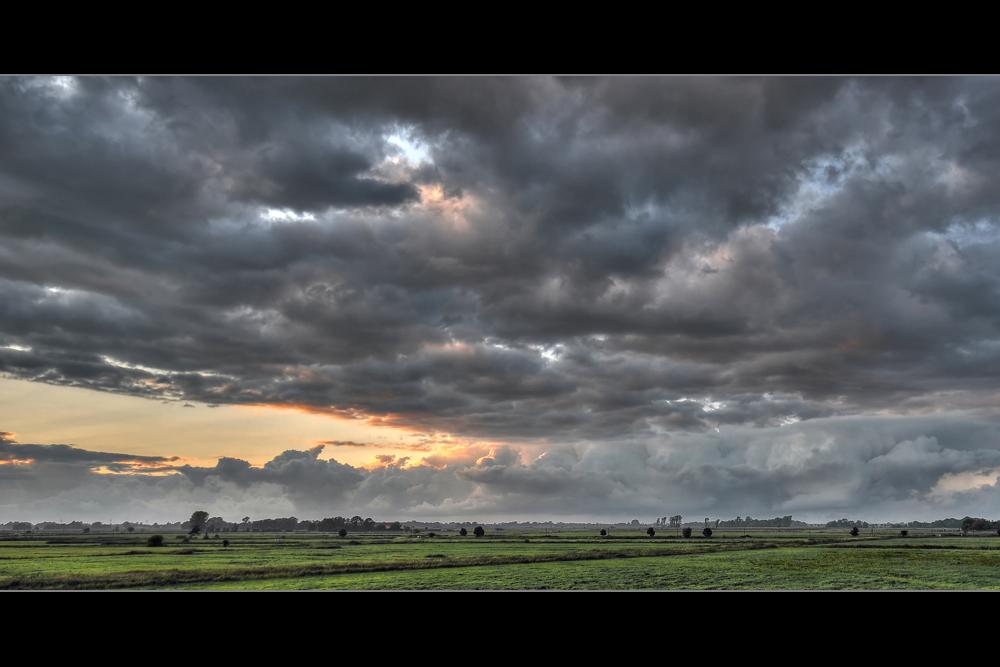 Das Jeverland nach dem Regen