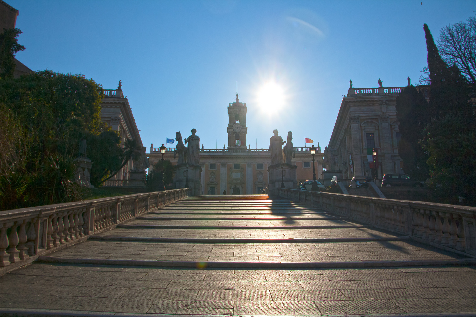 Das Kapitol in Rom...