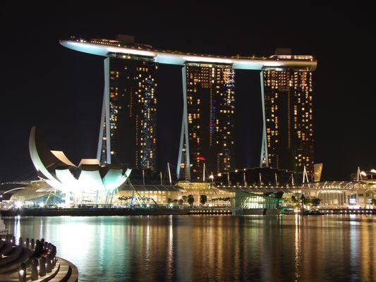 Das Kasino- Hotel Marina Bay Sands in Singapur