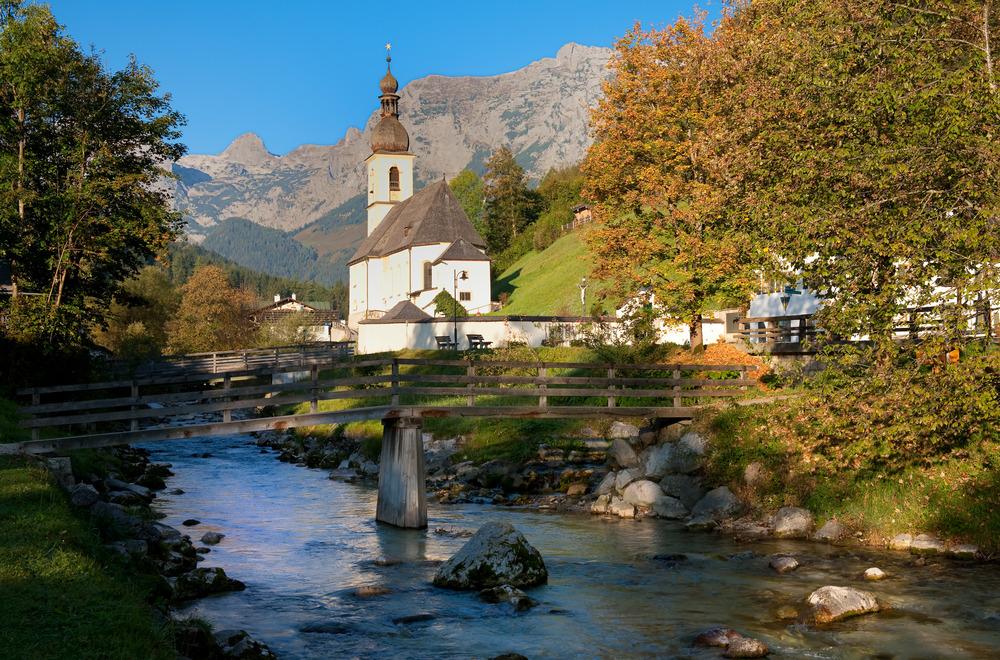 das kirchlein von ramsau np berchtesgadener land foto bild landschaft berge natur bilder. Black Bedroom Furniture Sets. Home Design Ideas