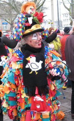 Das klassische Lappenkostüm im Karneval