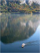 Das kleine Boot auf dem See