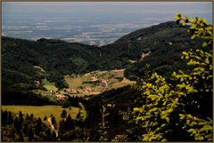 das kleine Dorf in mitten des noerdlichen Schwarzwald