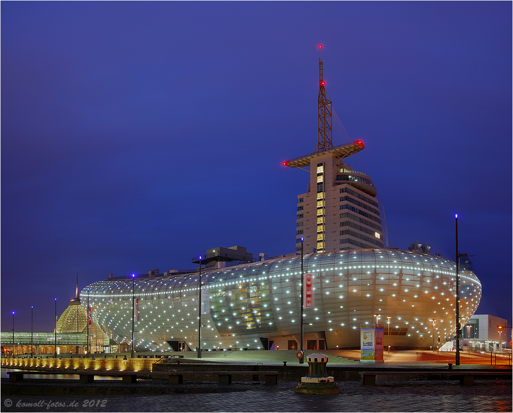 Das Klimahaus mit dem Atlantic Hotel Sail City