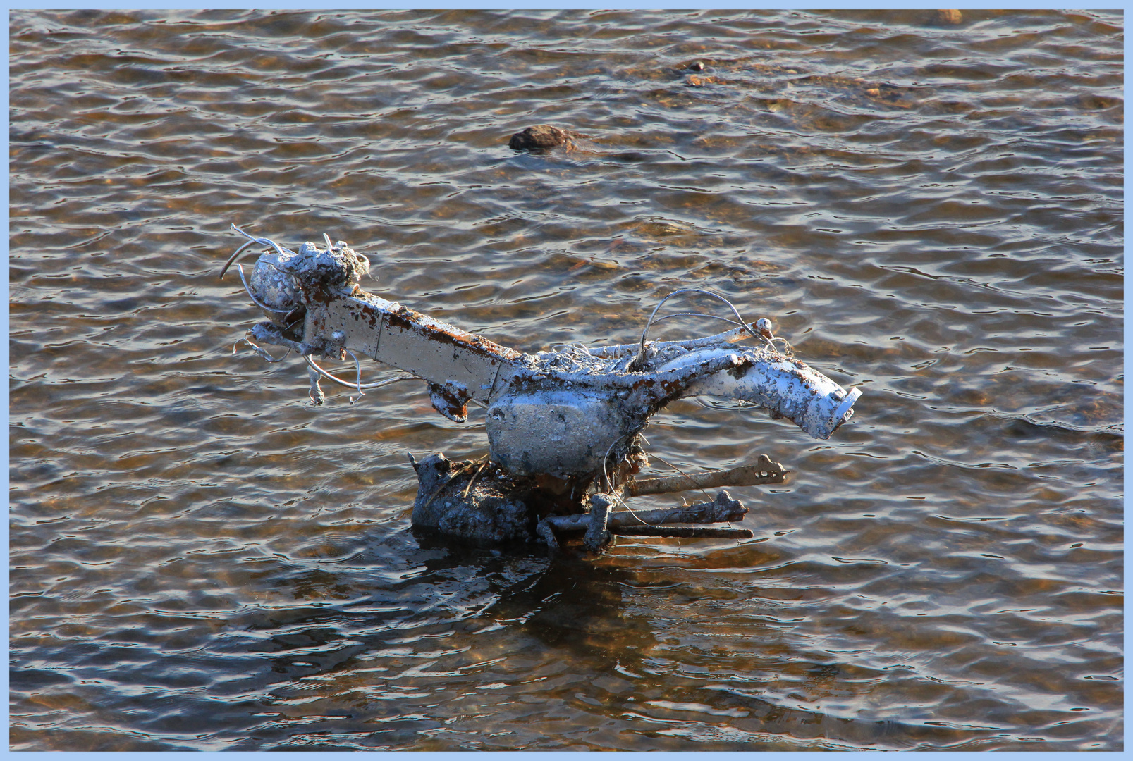 Das Krad im Fluß