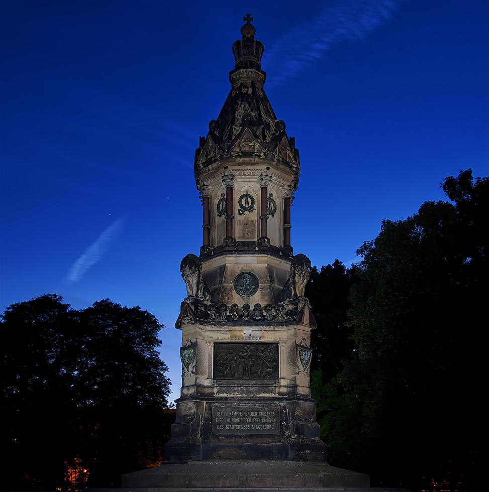 Das Kriegerdenkmal...