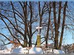 Das Kruzifix auf dem Heiligen Berg in Branitz