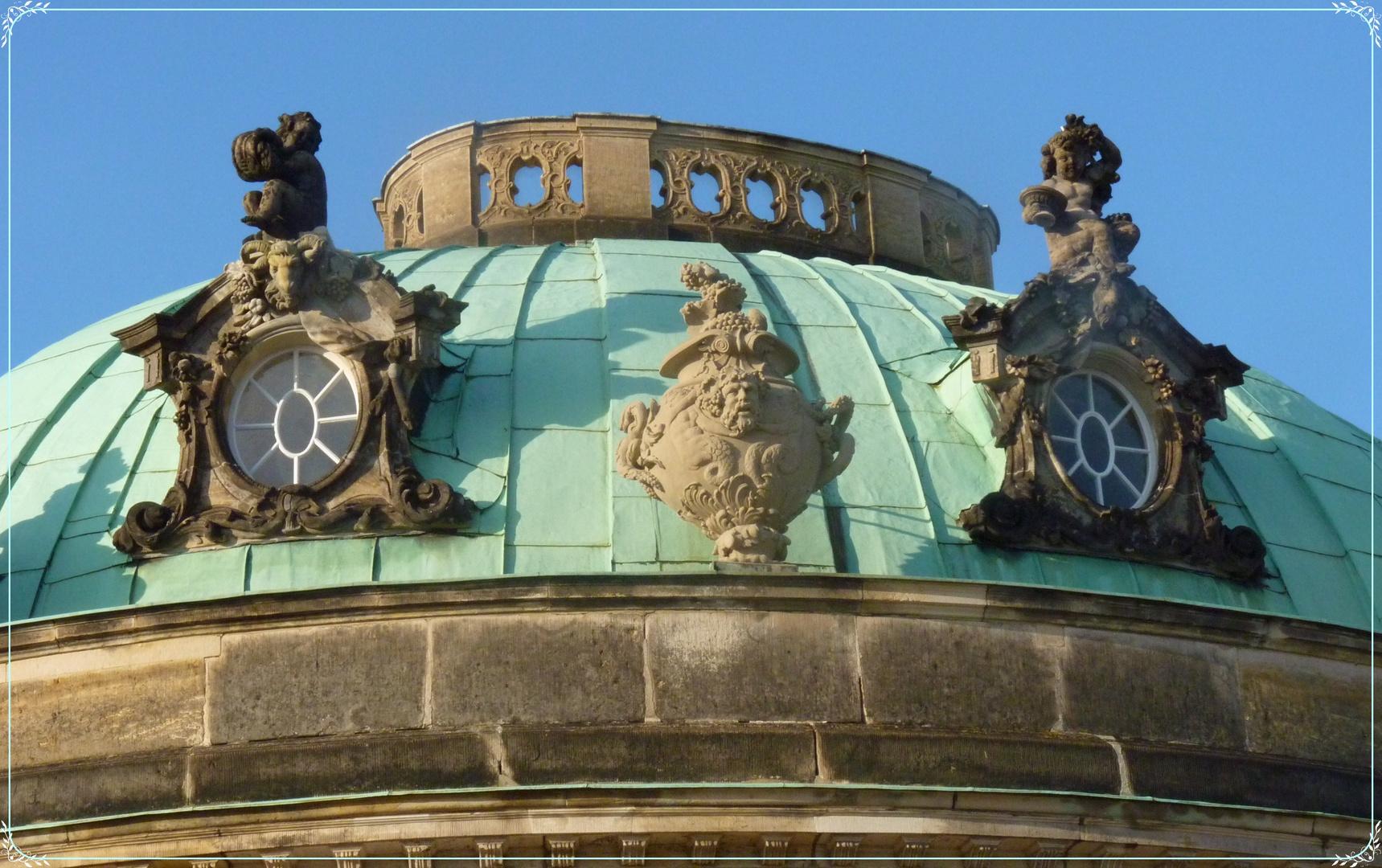 Das Kuppeldach des Mamorsaals von Schloss Sanssouci !