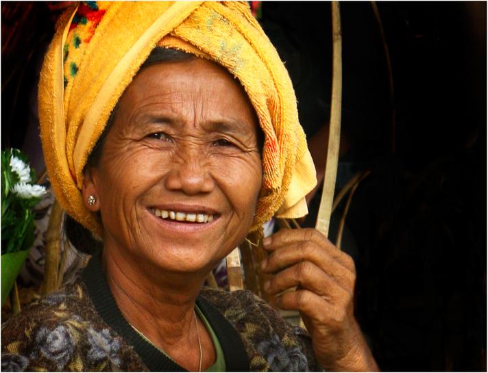 Das Lächeln der Marktfrau