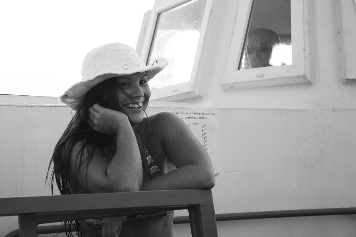 das Lächeln unterm Hut