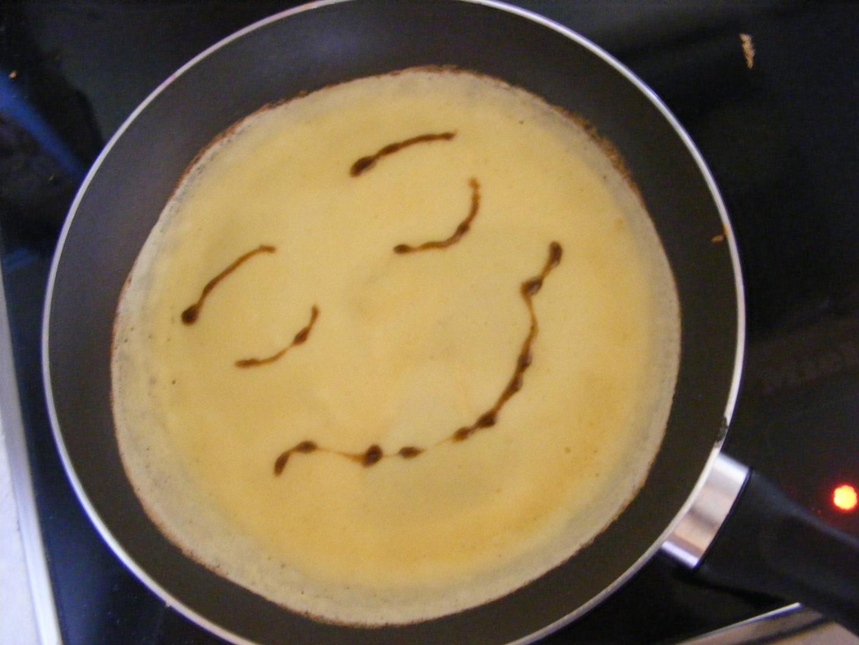 das lächelnde omelette