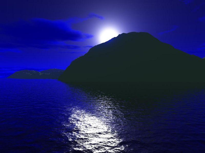Das Land bei Nacht