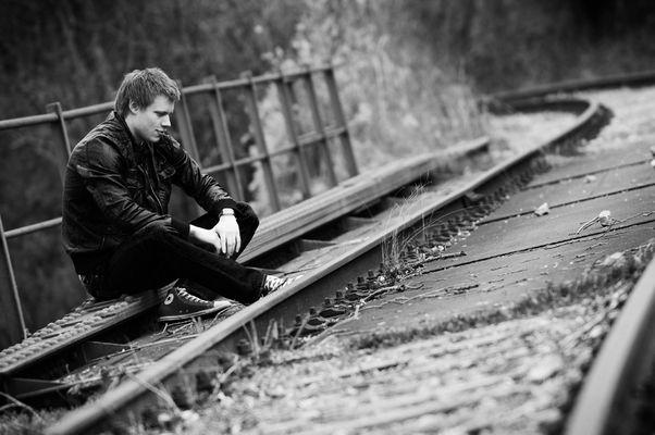Das Leben ist ein Brücke und ich sitzt jetzt in der Mitte