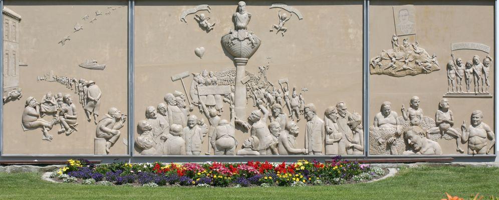 Das Lenk-Tryptichon in Ludwigshafen am Bodensee
