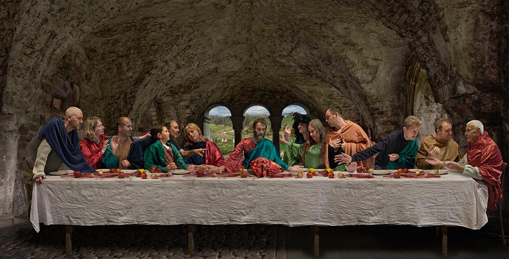 Das letzte Abendmahl Foto & Bild | fotomontage, jesus ...