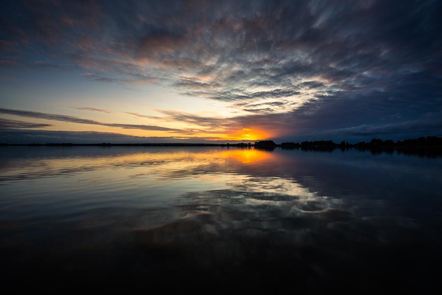Das letzte Licht am Horizont