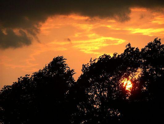 Das Leuchten des Himmels kurz vor dem Gewitter...