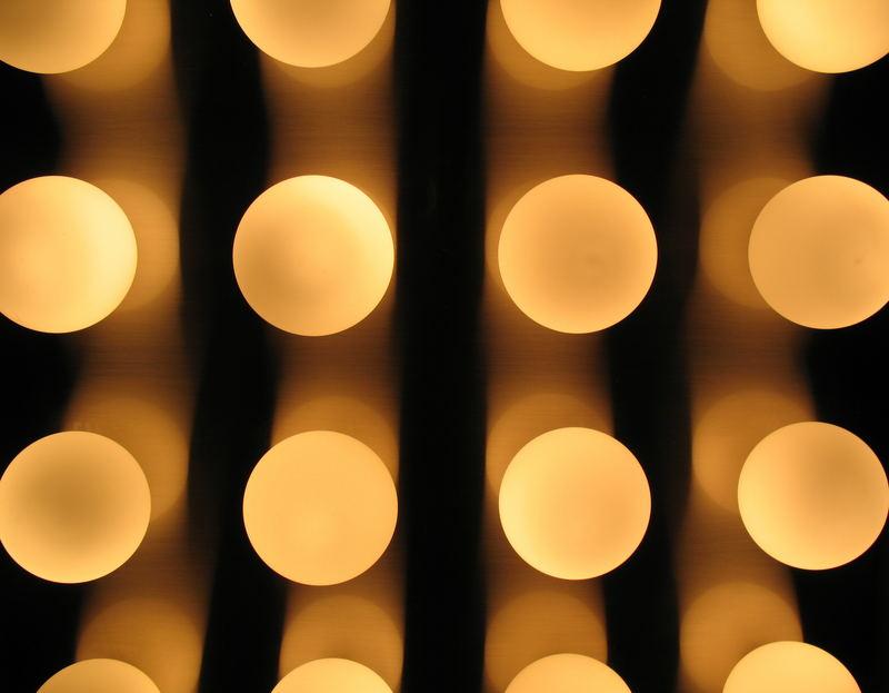 Das Leuchten einer Lampe