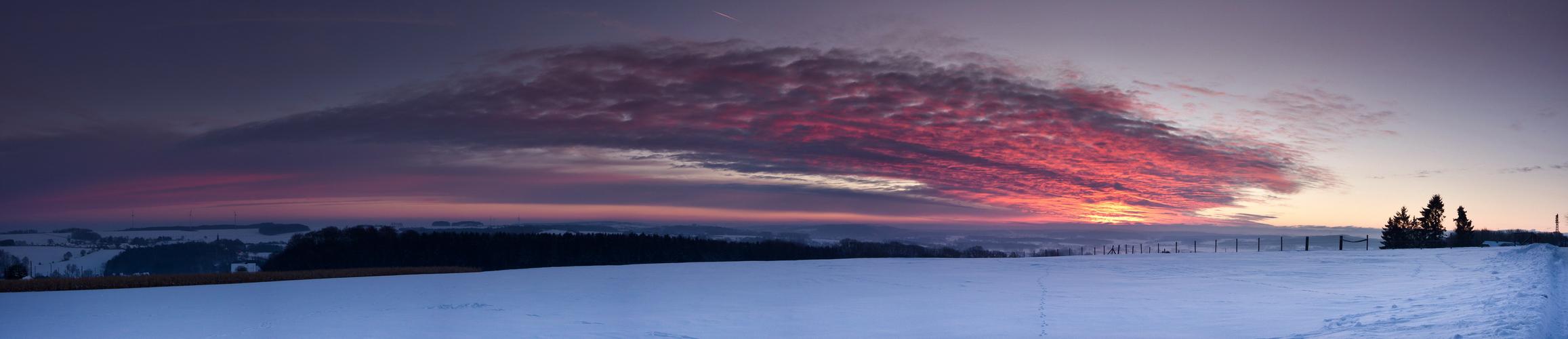 Das Licht im Winter 6 ( Panorama )