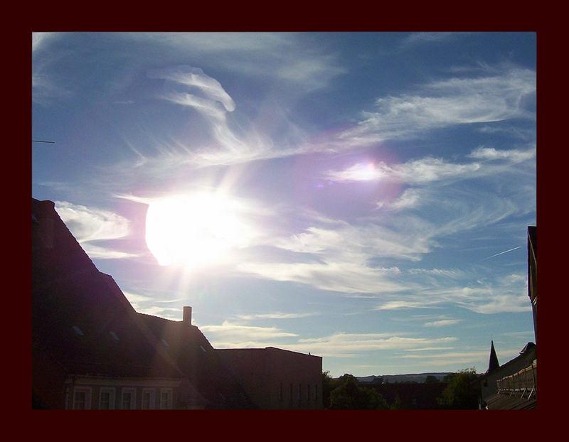 Das Licht in den Wolken