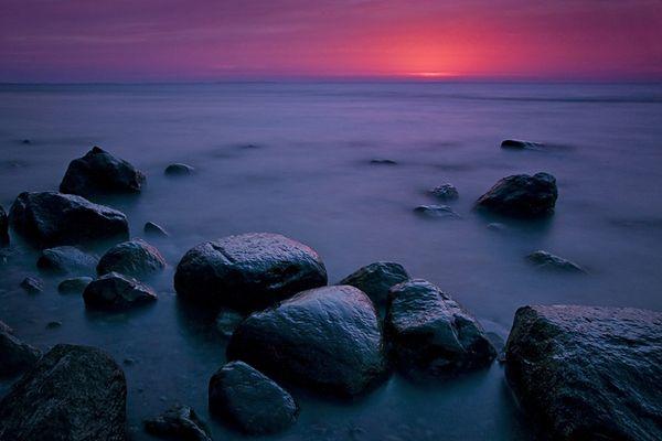 Das Licht nach einem Sonnenuntergang