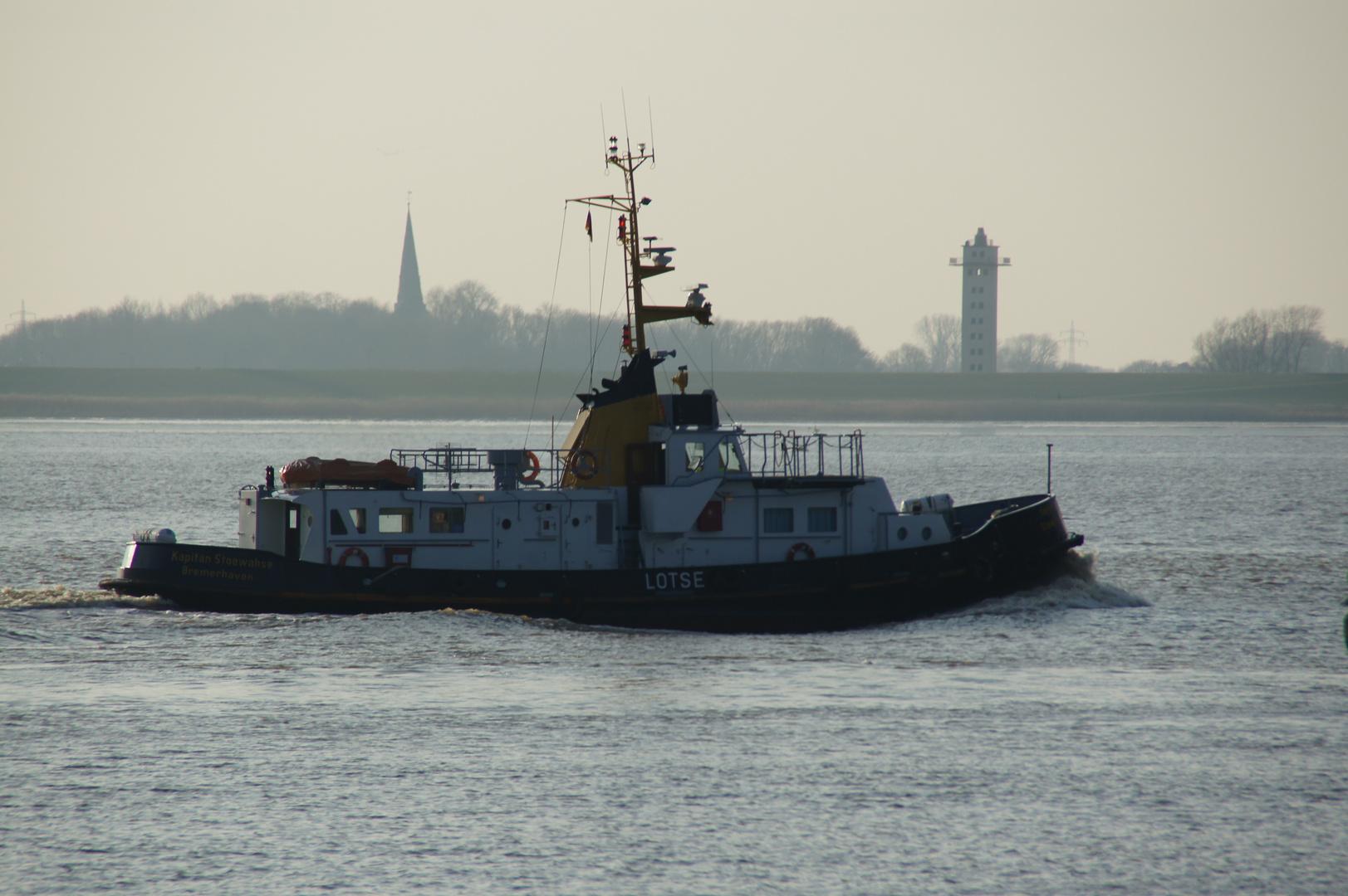 """Das Lotsenversetzboot """"Kapitän Stoewahse"""""""