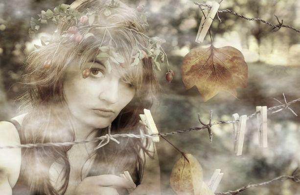 Das Mädchen und die Blätter