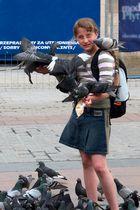 Das Mädchen und die Tauben