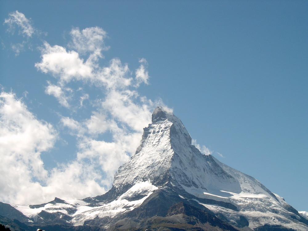 Das Matterhorn - aufgenommen von der Sunega