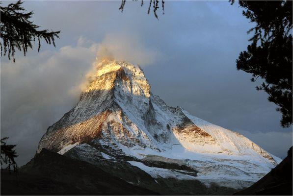 Das Matterhorn im Morgenlicht
