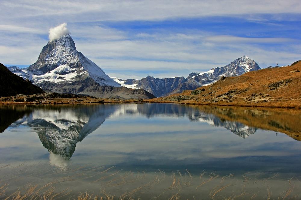 Das Matterhorn und der Riffelsee.