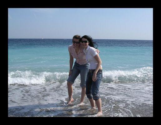 Das Meer in Nizza im April.... kaaalt