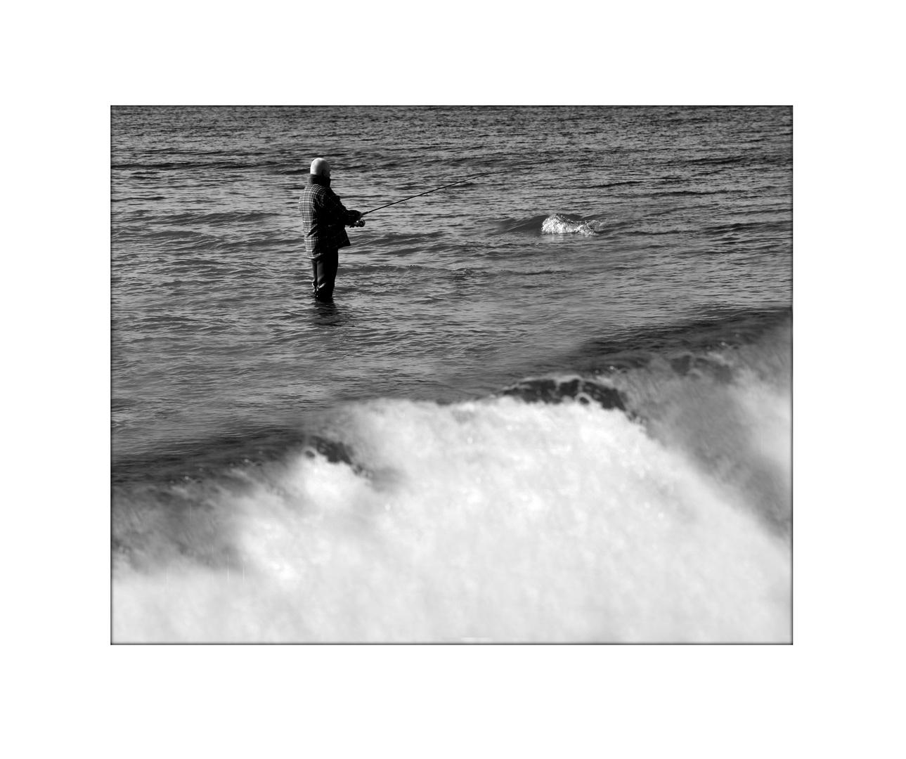 das Meer und der Angler :-)