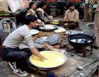 Das Messe Essen der Arbeiter