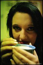...das Model und der Cappuccino