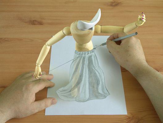 Das Model und der Zeichner bei der Findung einer gemeinsammen Ebene
