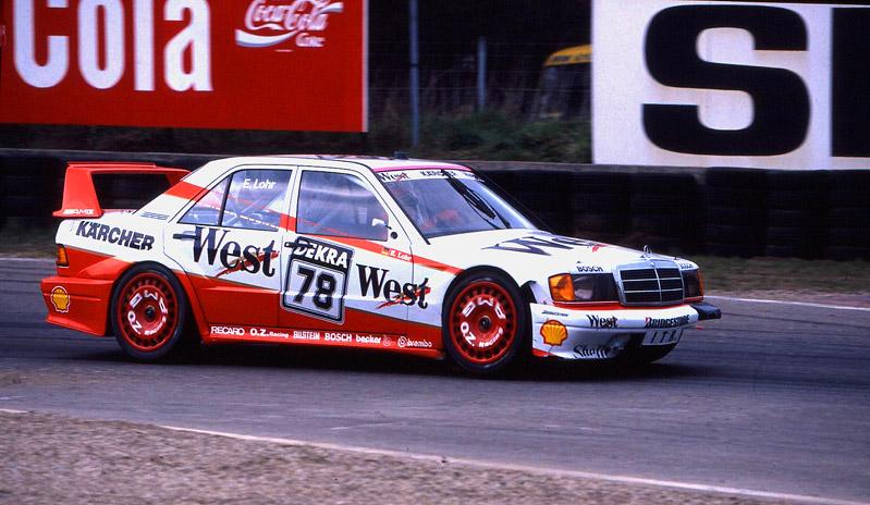 """Das Mönchengladbacher Mädel """"Ellen Lohr"""" im AMG Mercedes 1991 DTM Zolder/B."""
