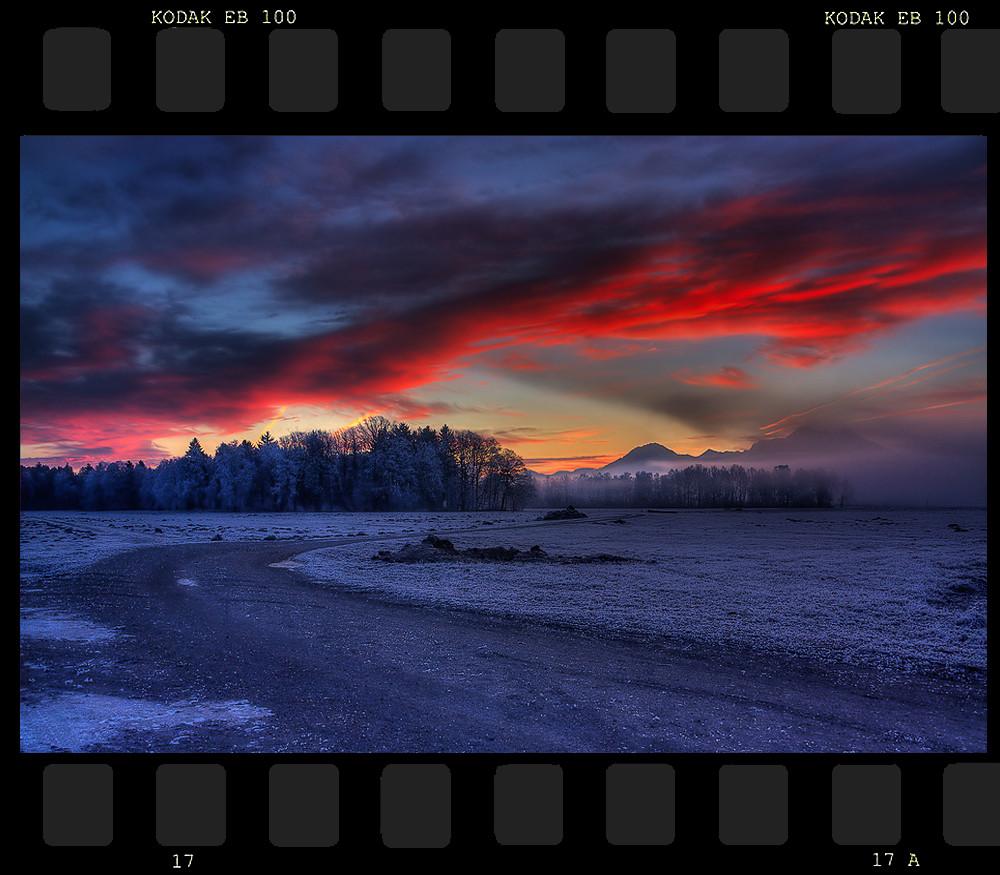 Das Morgenrot vertreibet den Nebel...