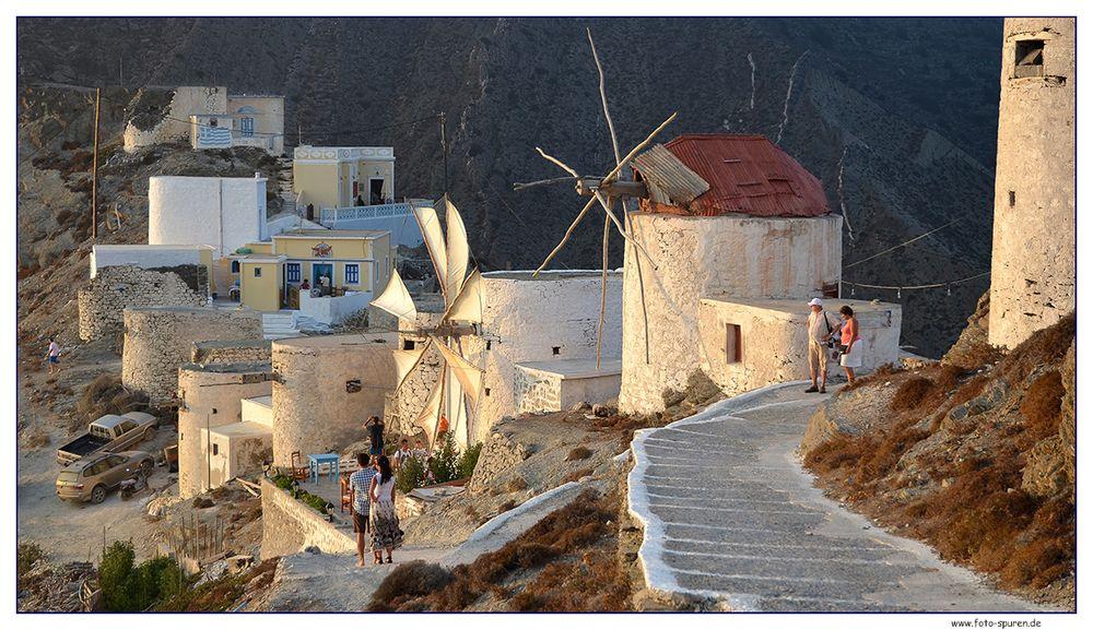 Das Mühlenviertel von Olymbos