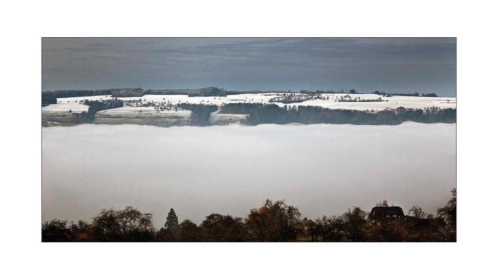 Das Nebelmeer über dem Baldegger See