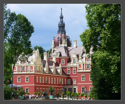 Das Neue Schloss im Fürst Pückler Park, Bad Muskau in der Lausitz