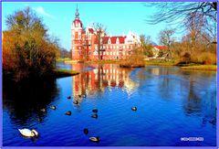 Das Neue Schloss, von der Karpfenbrücke gesehen  ..