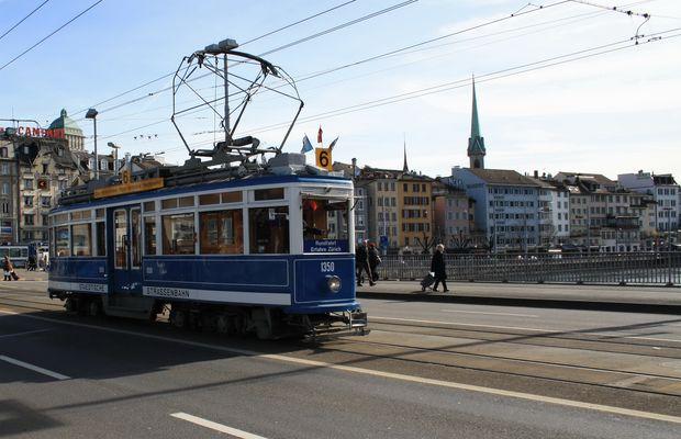 Das Original-Bild der ältesten ZH-Strassenbahn