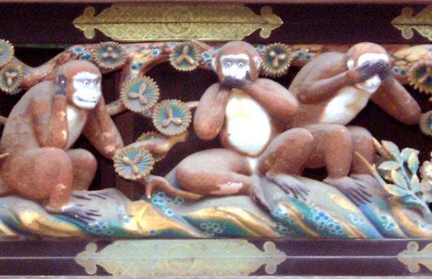 Das Original der drei Affen