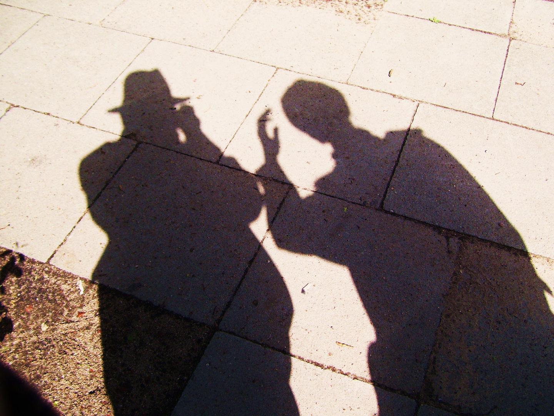Das Paar als Schatten