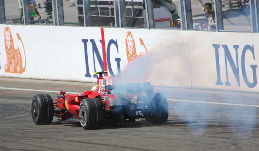 Das Pech von Felipe Massa in Budapest